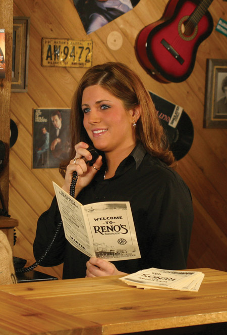 Reno's Roadhouse Hostess